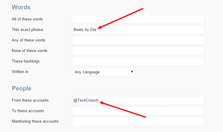 Search popular accounts tweeting your products to connect those responding to them, How to use twitter advanced search operators, Advanced twitter search filters, Advanced search twitter
