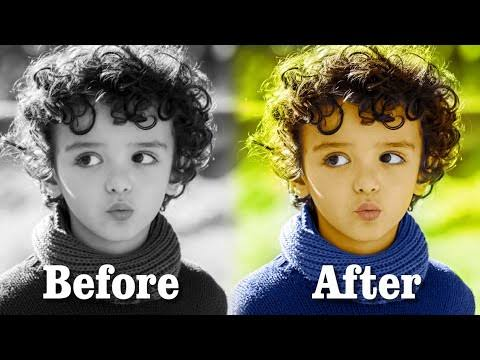 Picture colorizer: black and white and colorful image